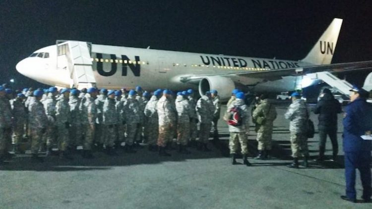 Photo: Kazakh peace troops getting ready for UN mission in Lebanon. Credit: Kazakh Permanent Mission to the UN in New York.