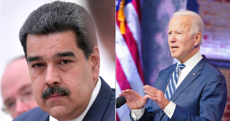 Image: Collage of pictures with Venezuelan President Maduro (left) and Joe Biden (right) from Internet.