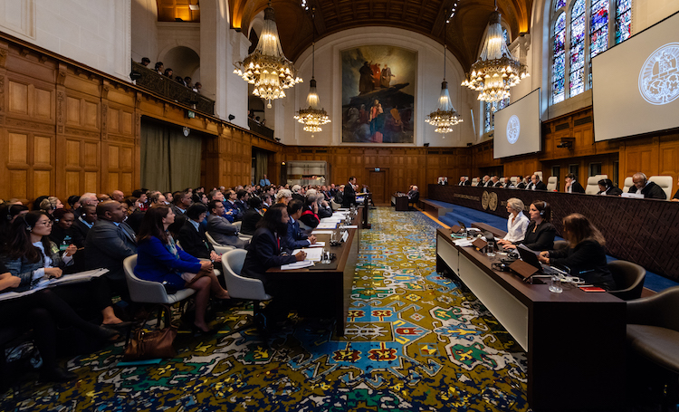 Photo: View of the ICJ courtroom on the opening day of the hearings. Credit: ICJ