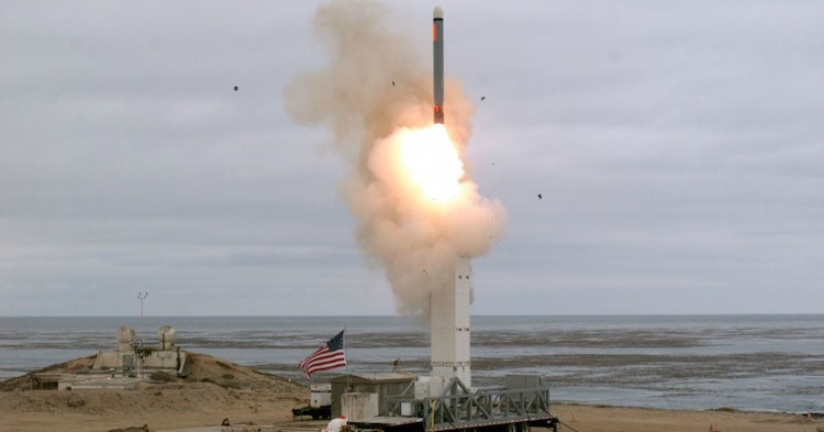 Photo: The U.S. Defense Department conducted a flight test of a conventionally configured ground-launched cruise missile at San Nicolas Island, California on August 18, 2019. Credit: Scott Howe | DVIDS – The Defense Visual Information Distribution Service.