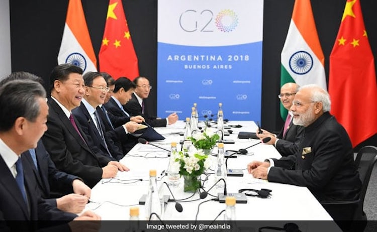 Photo: PM Modi, Xi Jinping Meet On Sidelines Of G20 Summit In Argentina. Credit: MEA India.