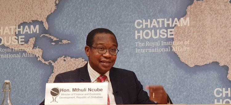 Photo: Zimbabwe Finance Minister Dr Mthuli Ncube at Chatham House early October 2018. Credit: YouTube