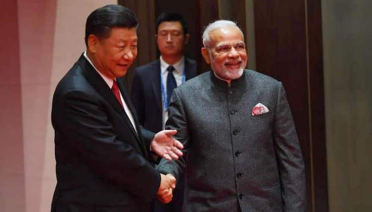 Photo: Prime Minister meets Xi Jinping, President of China on the sidelines of Shanghai Cooperation Organisation (SCO) Summit 2018 in Qingdao on June 9. Credit: India's Ministry of External Affairs.