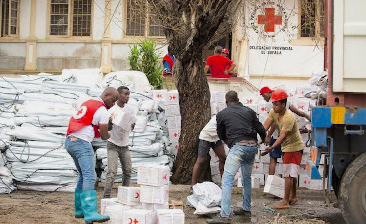 Photo: Relief efforts under way in Mozambican city of Beira. Source: africanews.