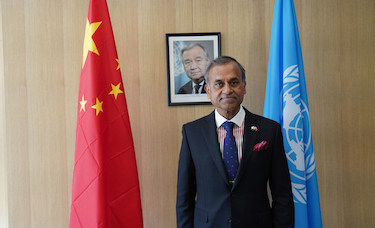 The UN Resident Coordinator in China Siddharth Chatterjee, by UNRCO China
