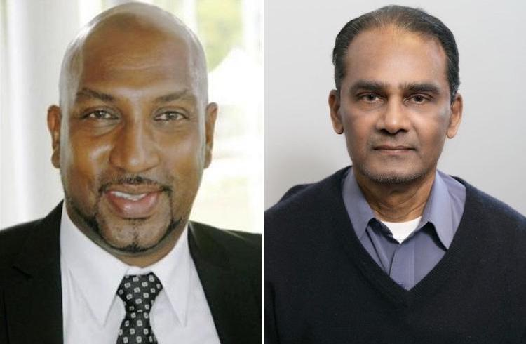 Collage: A collage of pictures of (left) Senator Anil Roberts from Trinidad, a former Minister of Sport and Youth affairs, now opposition senator and (right) Professor Daniel Gibran from Guyana