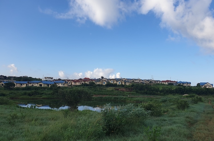 Photo: A view of the Mabwepande Green Village. Credit: Kizito Makoye.