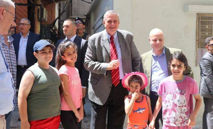 Photo: UN Special Coordinator for Lebanon, Jan Kubis and the Director of UNRWA Affairs in Lebanon, Claudio Cordone meeting with Palestine refugees in Mieh Mieh refugee camp, Lebanon. 2019 UNRWA Photo by Ahmad Mahmoud