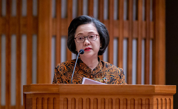 Photo: ESCAP Executive Secretary Armida Salsiah Alisjahb addressing a gathering in 2019. Credit: UNESCAP.