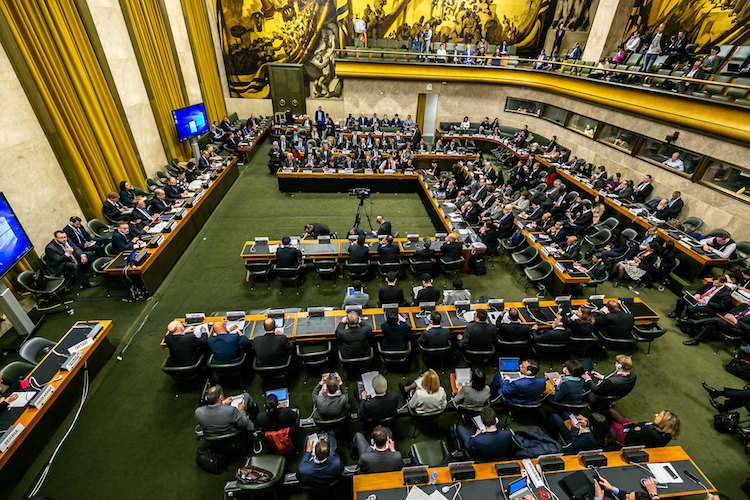 Photo: United Nations Secretary-General António Guterres addresses the Conference on Disarmament's High-Level Segment 2019, in Palais des Nations, Geneva on February 25, 2019. Credit: UN Photo by Antoine Tardy.