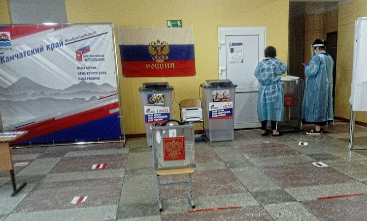 Photo: Voting station in Kamchatka Krai in the Far East region of Russia, with a population of 322,079. CC BY-SA 4.0
