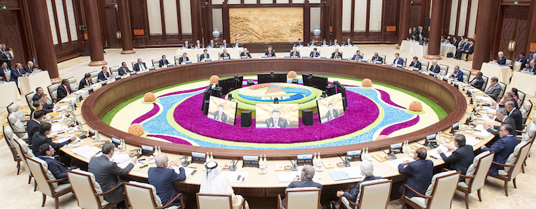 Photo: Xi chairs leaders' roundtable of Belt and Road forum in in April 2019 in Beijing. Source: Xinhua News Agency